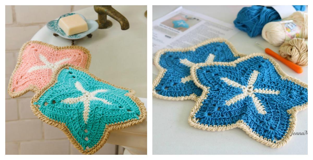 Elegant Starfish Dishcloths Free Crochet Pattern