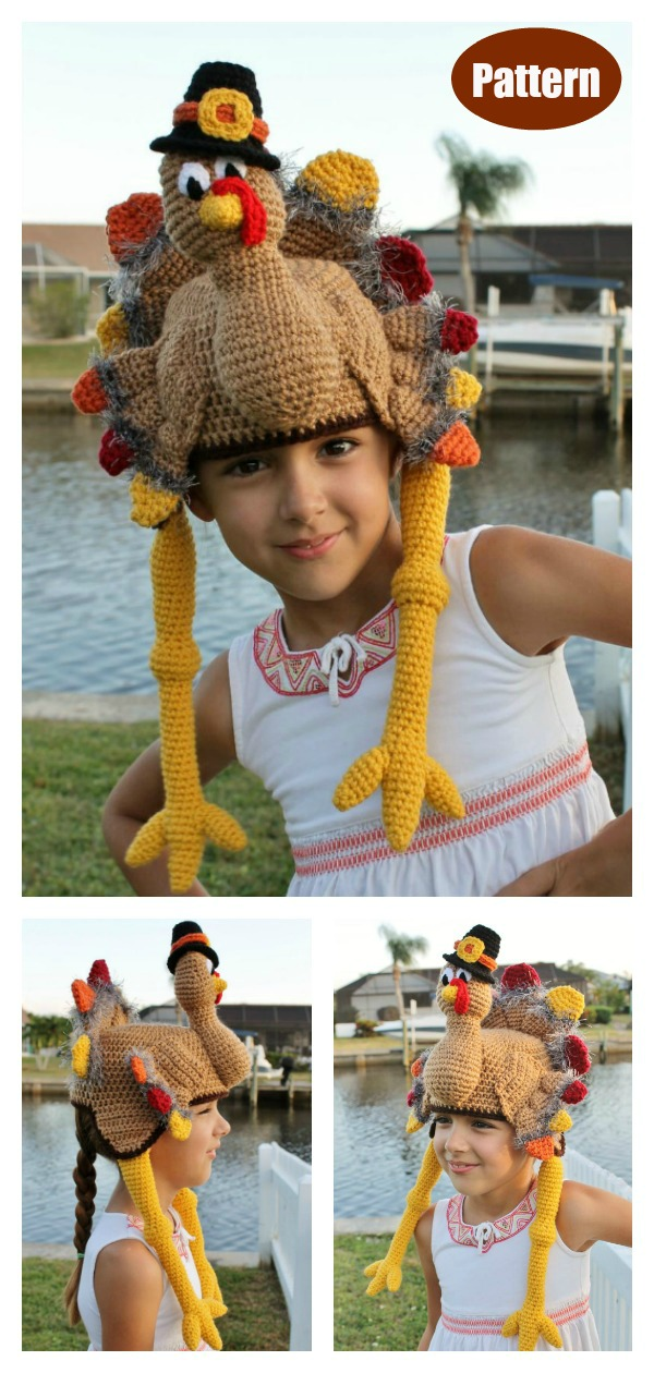 Thanksgiving Turkey Hat Crochet Pattern