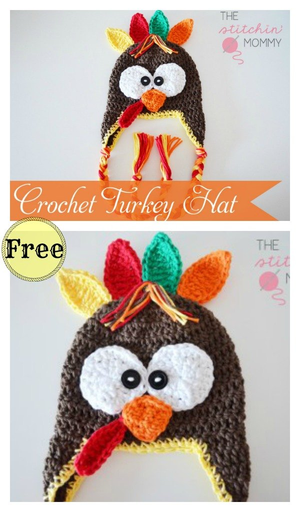 Turkey Hat Free Crochet Pattern