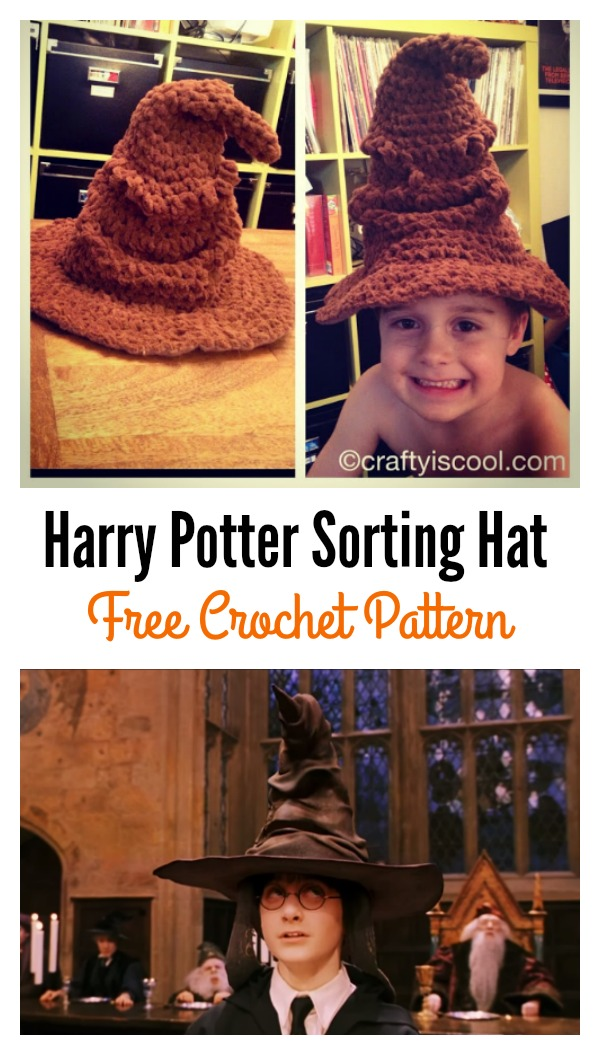 Adorable Harry Potter Sorting Hat Free Crochet Pattern