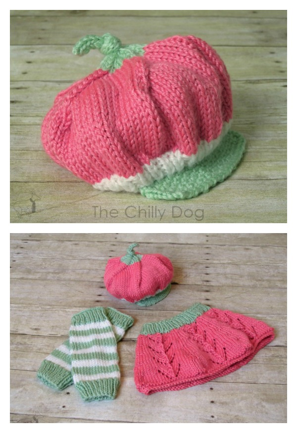 Adorable Strawberry Shortcake hat free crochet knitting pattern