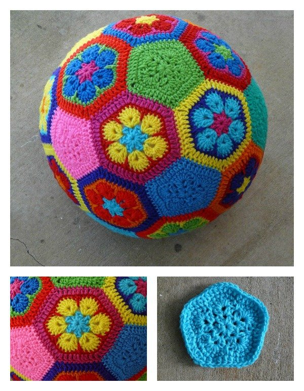 African Flower Soccer Ball Free Crochet Pattern Cool Creativities
