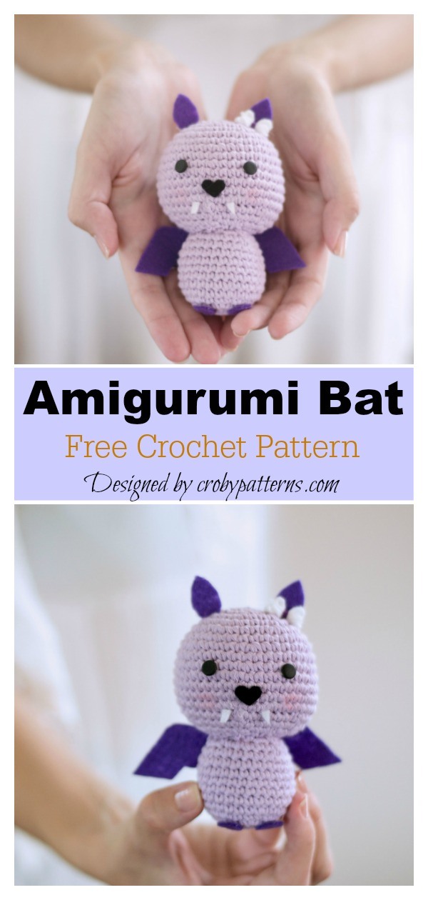 10 Adorable Amigurumi Bat Crochet Pattern Free & Paid ... | 1260x600