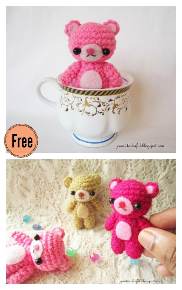 Free Crochet Teddy Bear Pattern | Crochet teddy bear, Teddy bear ... | 952x600