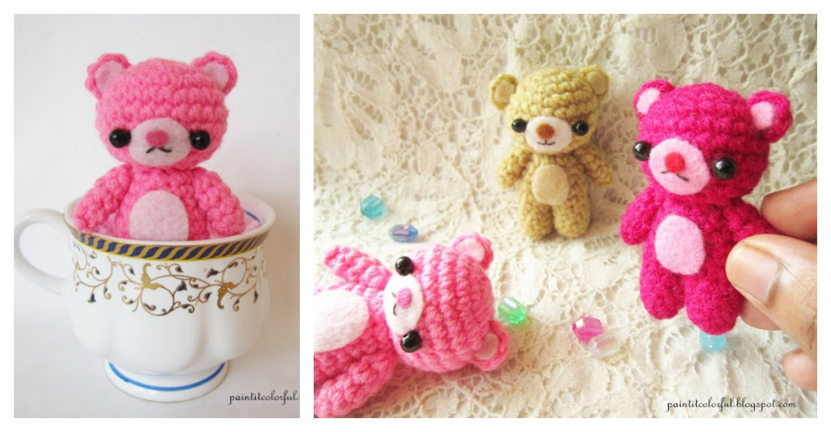 Amigurumi Free Patterns Bear : Amigurumi mini teddy bear free crochet pattern