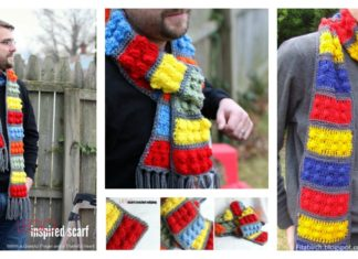 Awesome Lego Brick Scarf Free Crochet Pattern