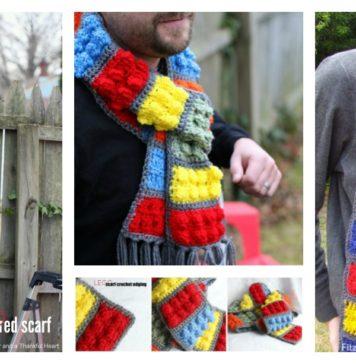 Awesome Lego Brick Scarf Free Crochet Pattern