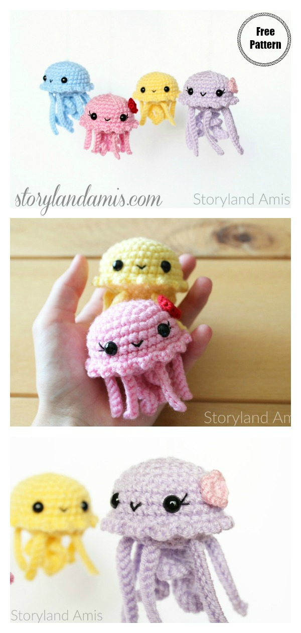 Happy jellyfish amigurumi pattern - Amigurumi Today | 1260x600