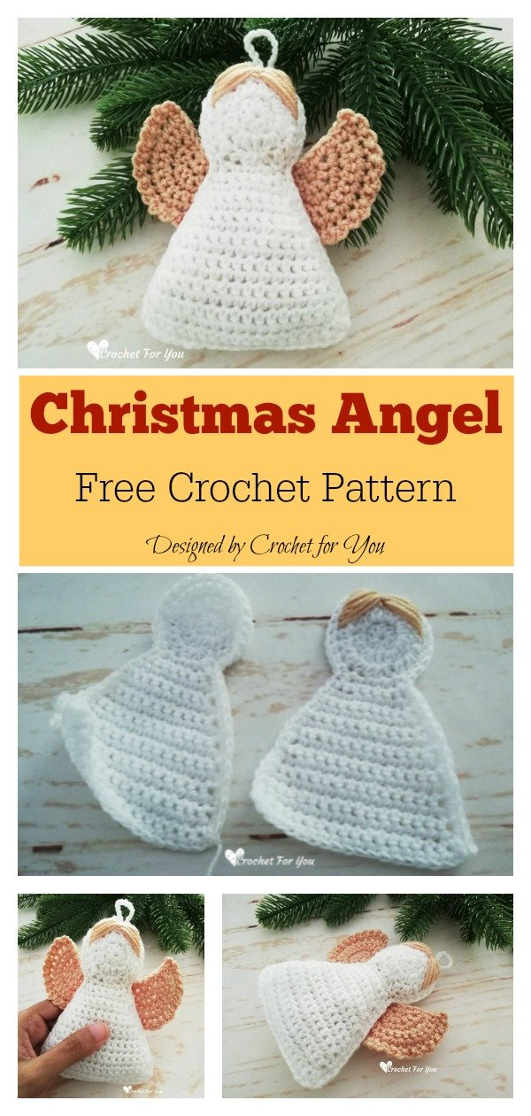Christmas Angel Ornament Free Crochet Pattern