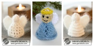Christmas Angel Ornaments Free Knittin g Pattern