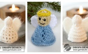 Christmas Angel Ornaments Free Knittin g Pattern