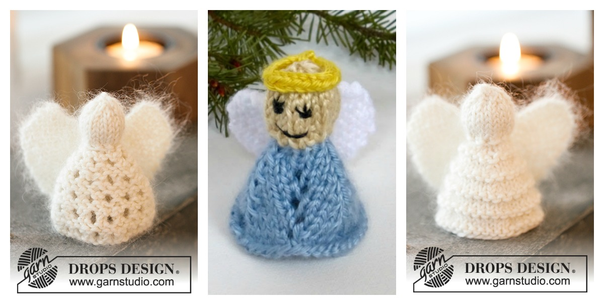 Christmas Angel Ornaments Free Knitting Pattern