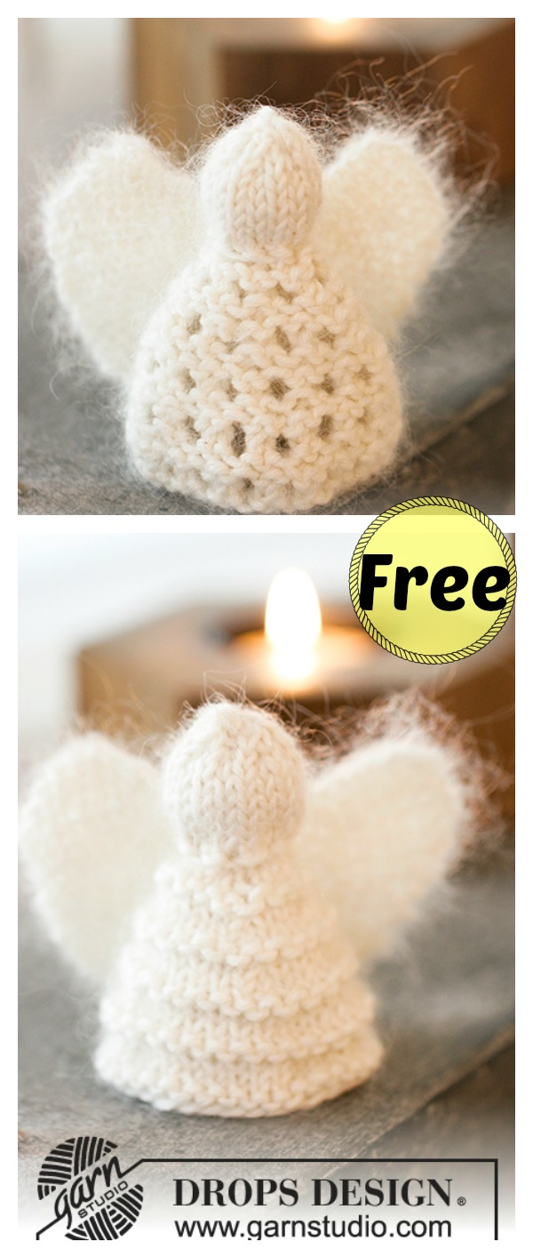 Christmas Angel Ornaments Free Knitting Pattern