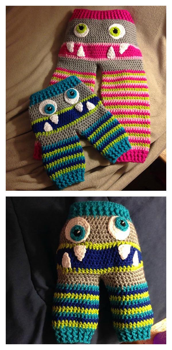 Cute Monster Butt Pants Crochet Patterns