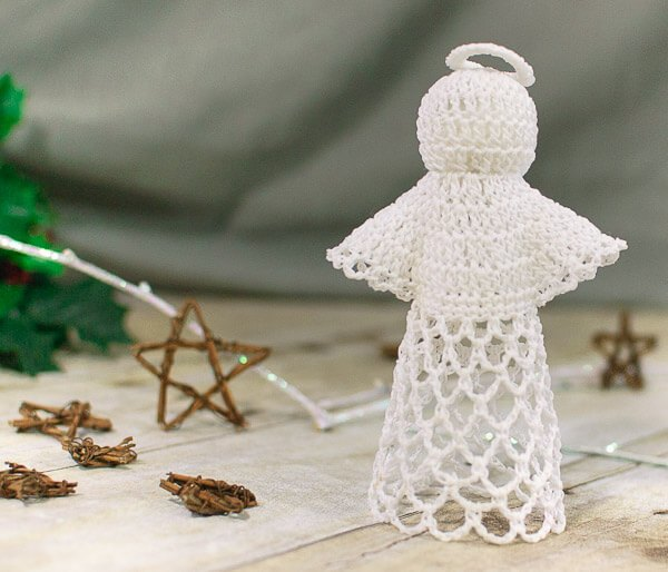 Christmas Lace Angel Free Crochet Pattern