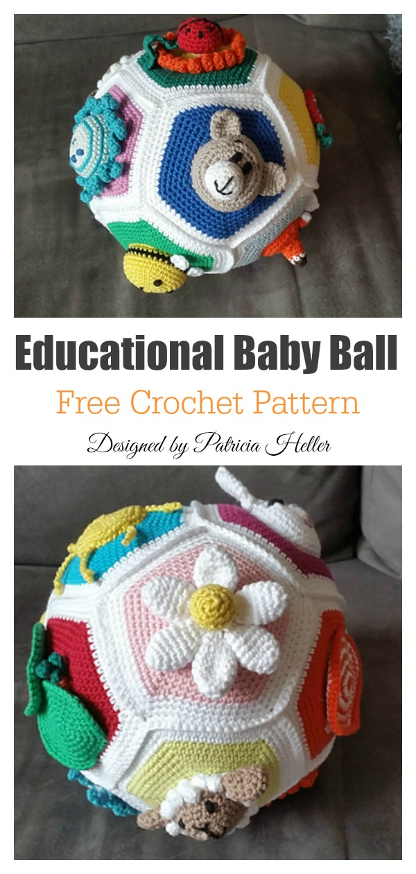 Crochet Balls {Free Pattern and What I Use Them For} | 1260x600