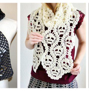 Fantastic Skull Scarf Free Crochet Pattern