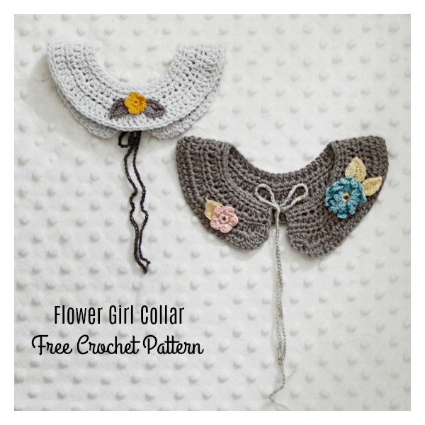 Flower Girl Collar Free Crochet Pattern