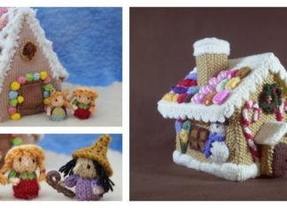 Gingerbread House Free Knitting Pattern and Idea
