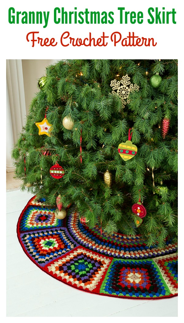 Granny Christmas Tree Skirt Free Crochet Pattern