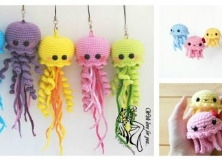 Happy Jellyfish Amigurumi Keychain Free Crochet Pattern