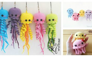 Happy Jellyfish Amigurumi Keychain Free Crochet Pattern