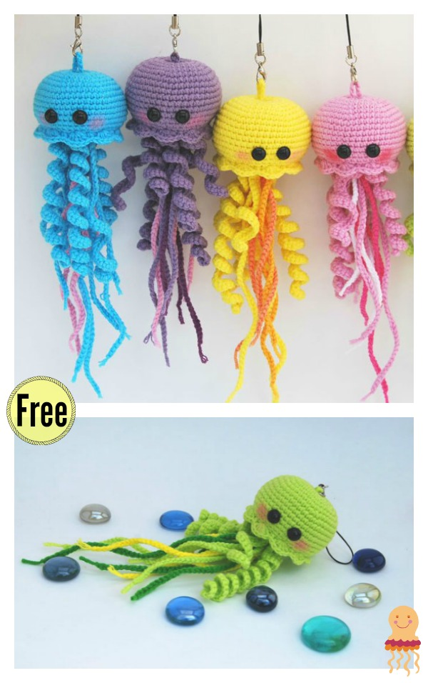 You might also like Crochet Amigurumi Jellyfish with Free Pattern.