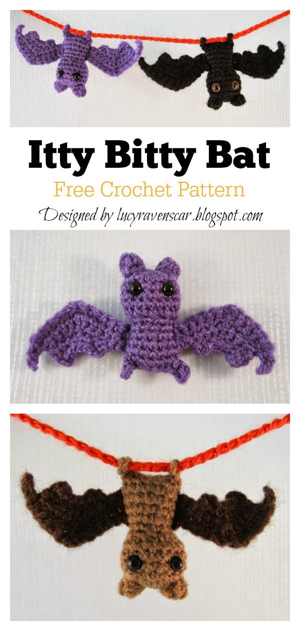 Itty Bitty Bat Amigurumi Free Crochet Pattern