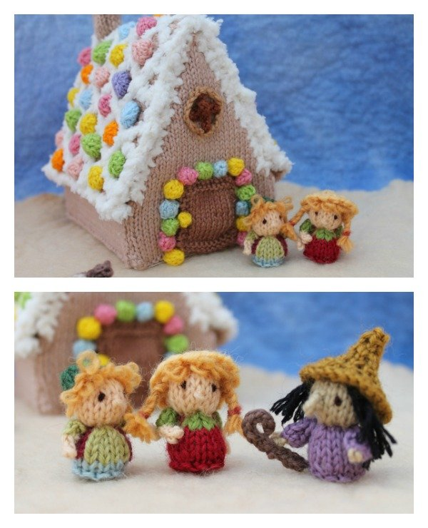 Knitted Gingerbread House
