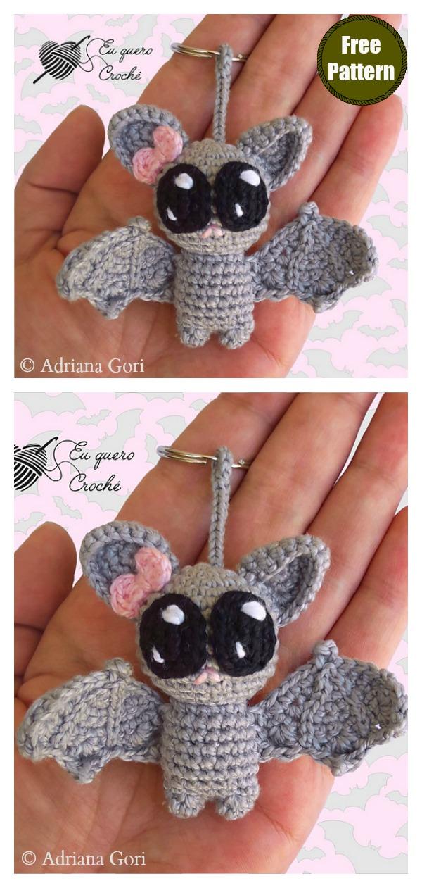 Little Bat Keychain Free Crochet Pattern