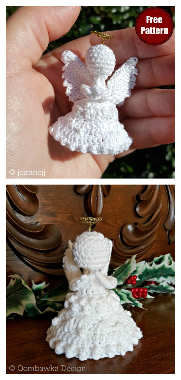 Peace on Earth Christmas Angel Ornament Free Crochet Pattern