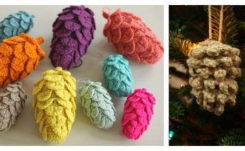Pine Cone Ornament Free Crochet Pattern