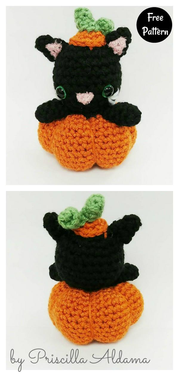 Pumpkin Cat Free Crochet Pattern