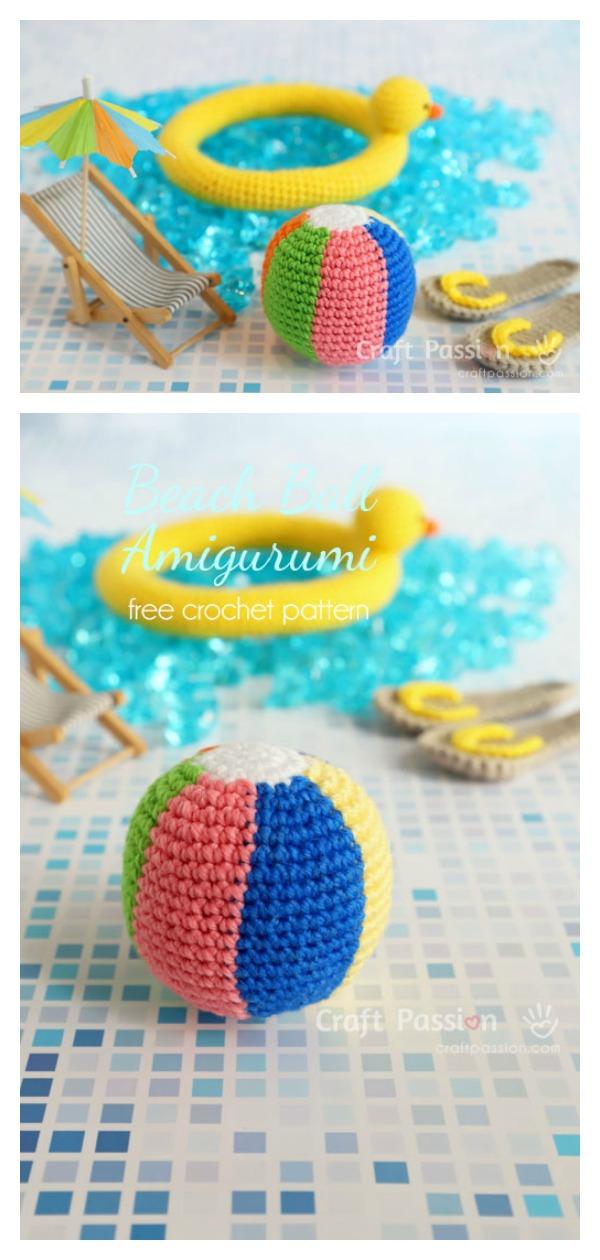 Rainbow Beach Soft Ball Amigurumi Free Crochet Pattern