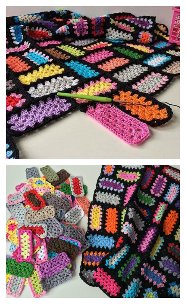 Rectangle Granny Square Free Crochet Pattern Cool Granny Square Crochet Patterns