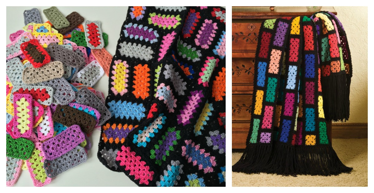 Knitting Patterns Using Squares And Rectangles : Rectangle Granny Square Free Crochet Pattern