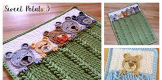 Sleep Tight Teddy Bear Baby Blanket Crochet Pattern