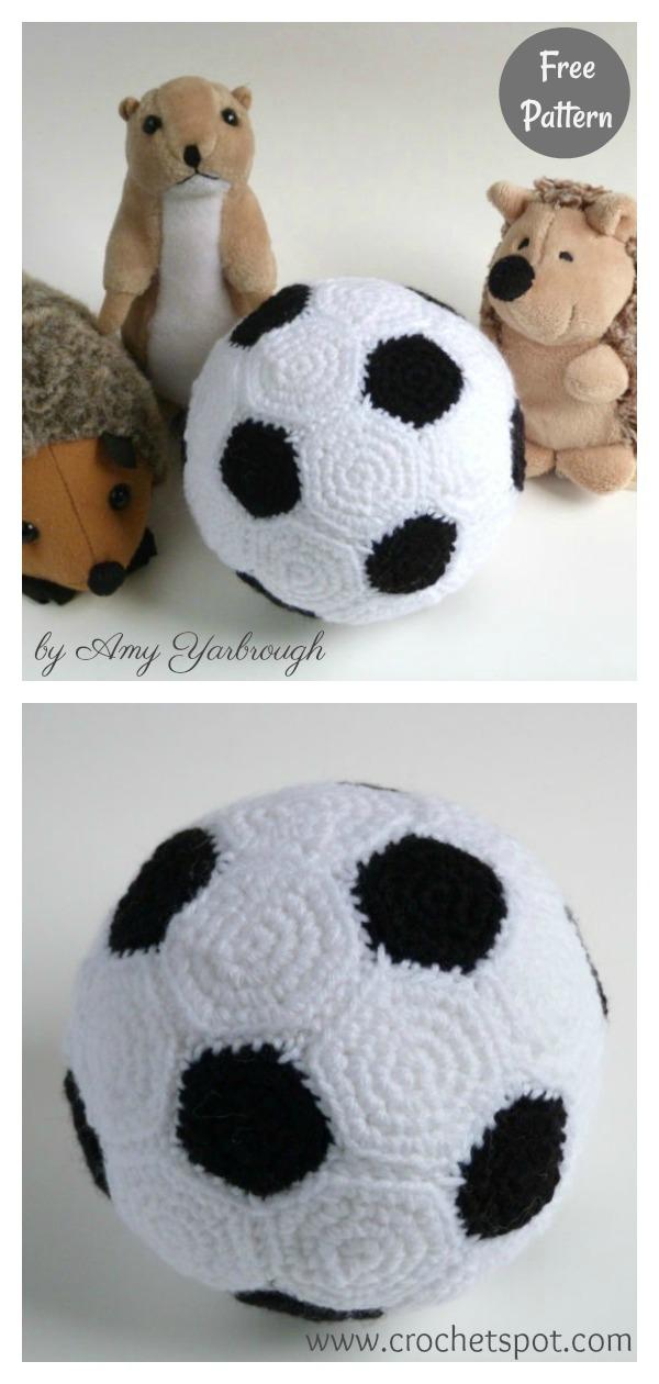Soccer Ball Plushie Free Crochet Pattern