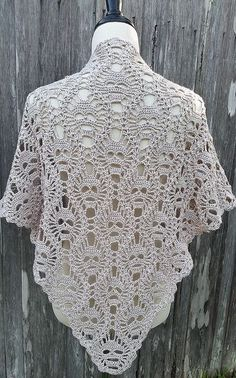 Skull Shawl Free Crochet Pattern