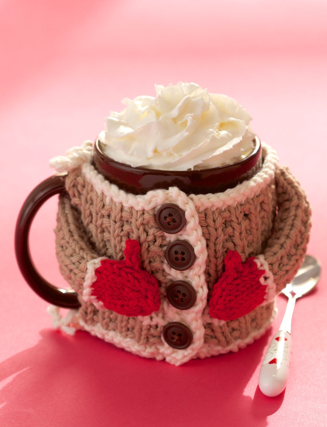Mug Cozy Sweater Free Knitting Pattern