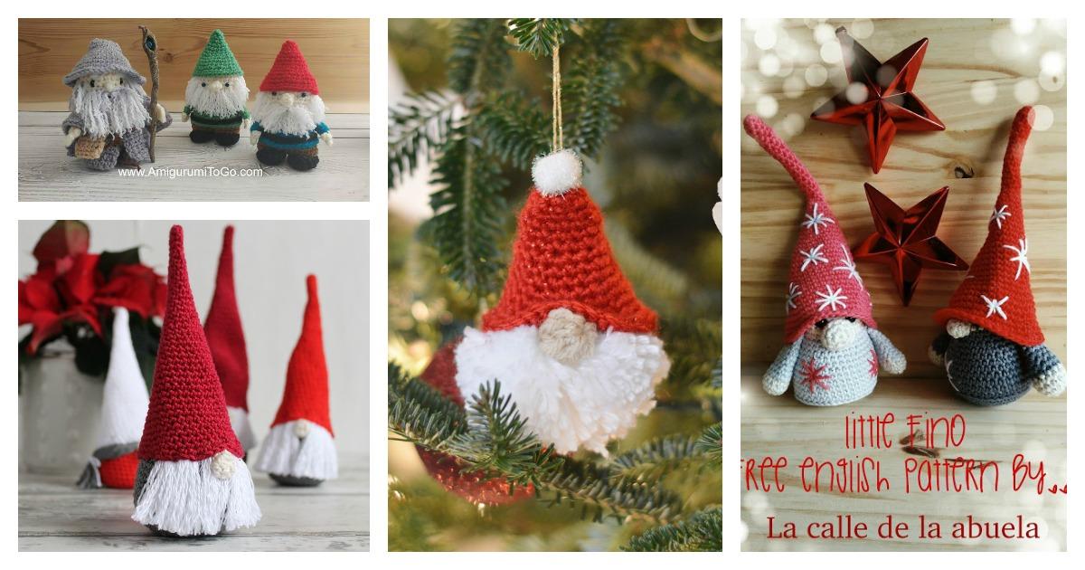 10 Amigurumi Christmas Gnome Crochet Pattern Free And Paid