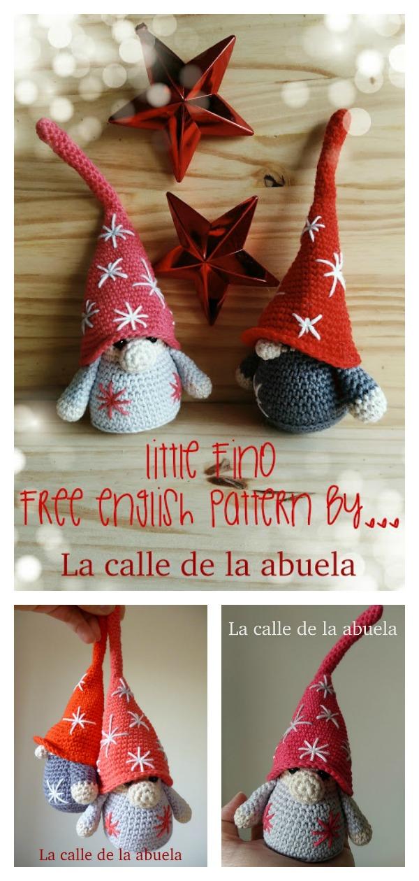 Christmas Gnomes Pattern.Amigurumi Christmas Gnome Crochet Pattern