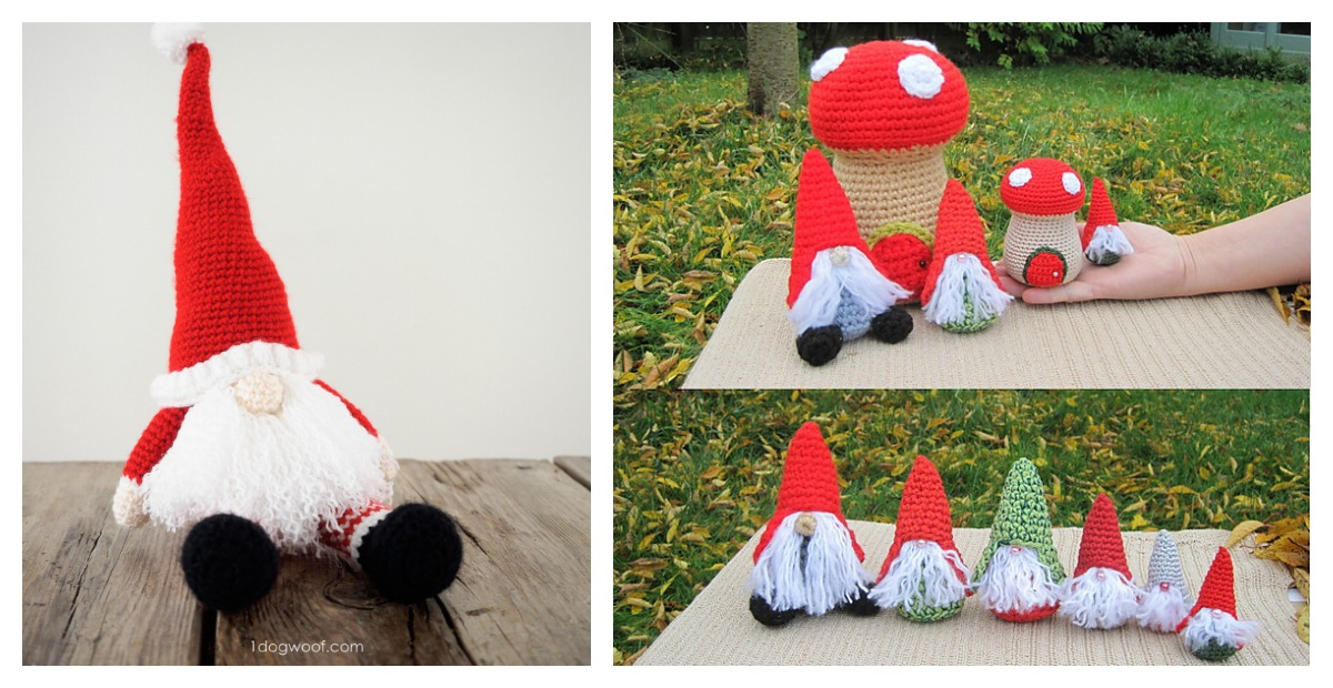 amigurumi christmas gnome crochet pattern - Christmas Gnome