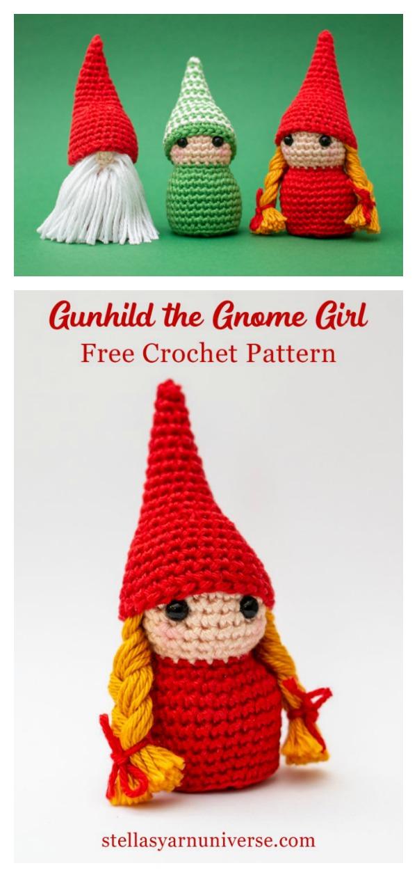 Amigurumi Christmas Gnome Girl Free Crochet Pattern