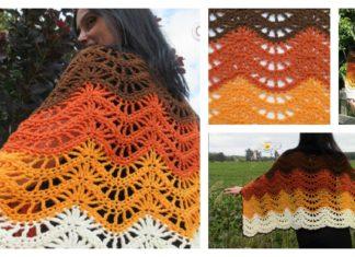 Autumn Moon Blanket Wrap Pattern