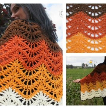 Autumn Moon Blanket Wrap Pattern