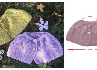 Baby Leaf Cape Free Knitting Pattern