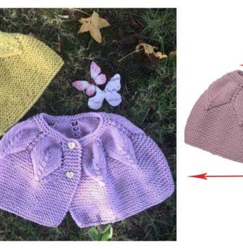 Baby Leaf Cape Free Knitting Pattern