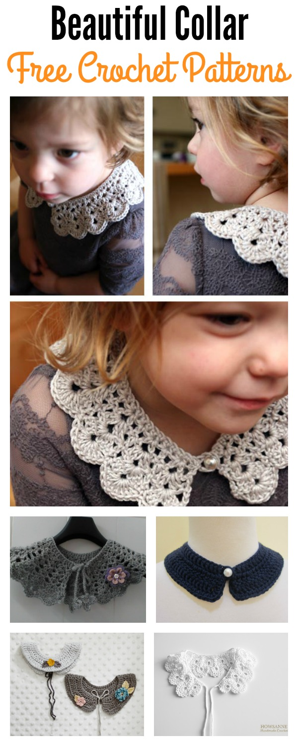 Beautiful Crocheted Collar Free Patterns - Cool Creativities