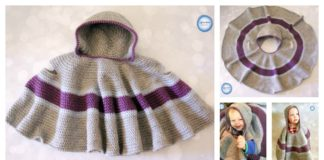 Car Seat Hooded Cloak Free Crochet Pattern